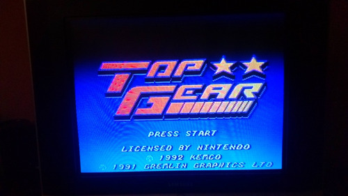top gear repro snes super nintendo
