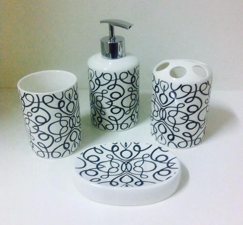 top!!! kit banheiro porcelana com 4 peças!!!