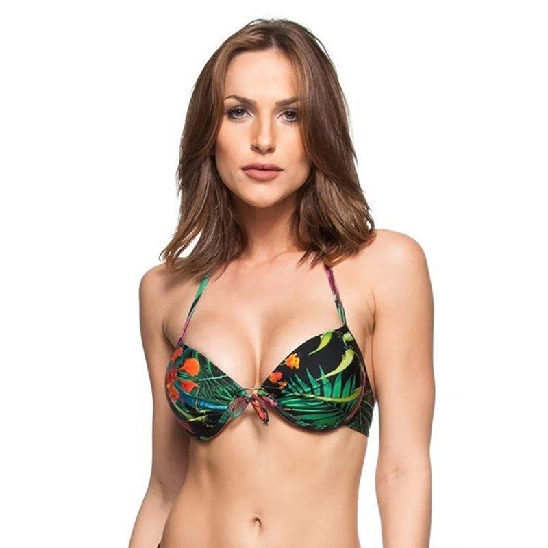 08cb6ab00 Top La Playa Meia Taça Bolha Flamboyant Preto - R$ 44,90 em Mercado ...