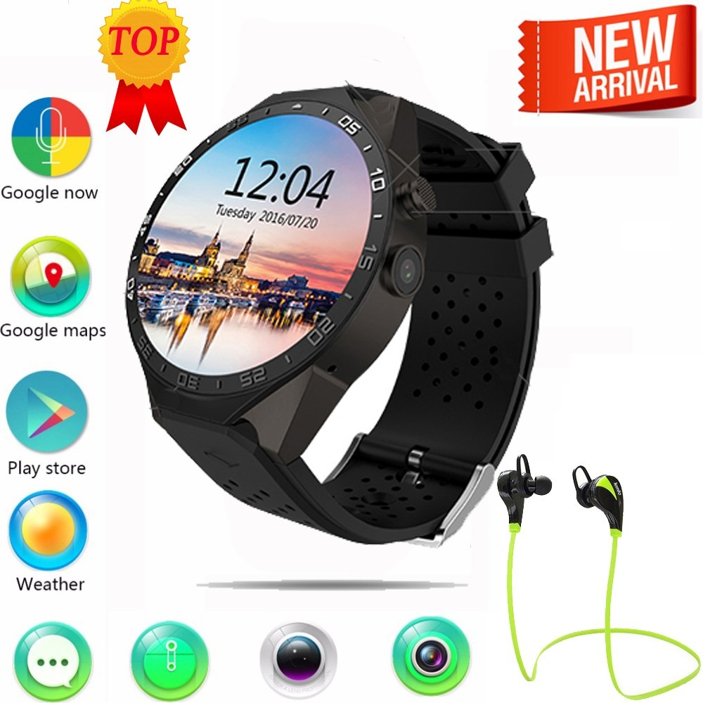 3795784358f Top Lemfo Kw88 3g Wifi Gps Smart Watch Android E Ios - R  810