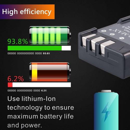 top-max en-el9 batería recargable de ion de litio en-el9a +