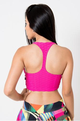 top nadador bojo removível fitness bolha (pink, m)