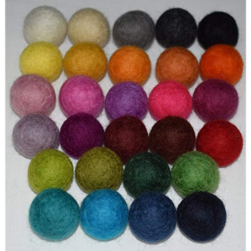 top notch wool 100  bolas de fieltro lana