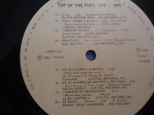 top of the pops 1970 - 1979 vinyl lp acetato