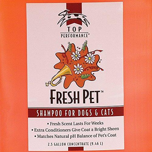 top performance champú para mascotas frescas, 2-1 / 2-galón