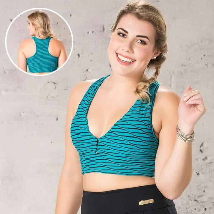 80d2abccc68ebd Top Plus Size, Fitness Nadador Em Poliamida Com Bojo