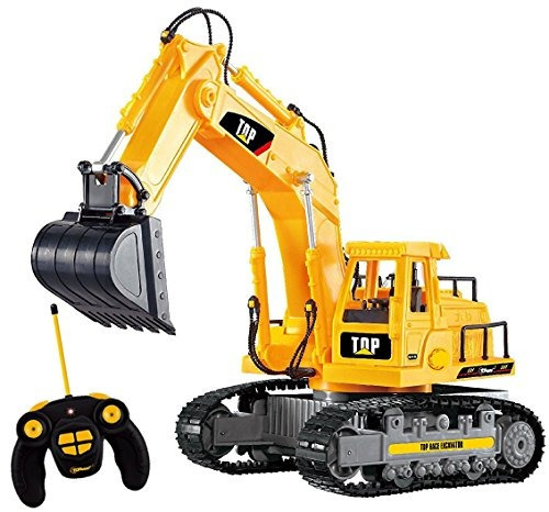 top race 7 channel full functional rc excavator, alimentado