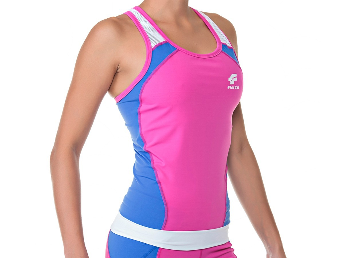 top regata flets triathlon feminina azul rosa 2017. Carregando zoom. 25d4285197b67