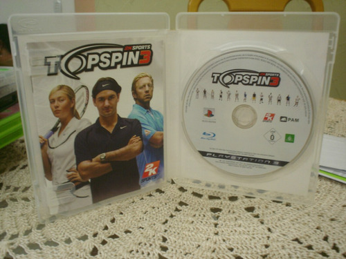 top spin 3  playstation 3 ps3 aceito trocas