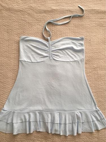 top / strapless celeste lavanda.  algodón super fresco