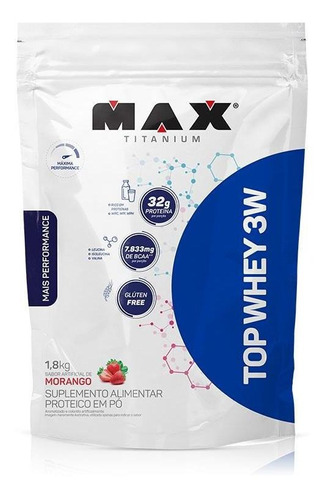top whey 3w mais performance refil (1800g) max titanium
