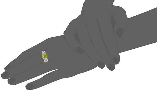 topacio oro anillo