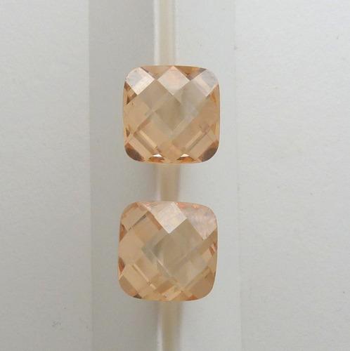 topázio imperial zircônia pedra preciosa preço do par 6331