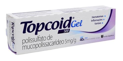 topcoid gel 500 40g para inflamações, varizes e hematomas