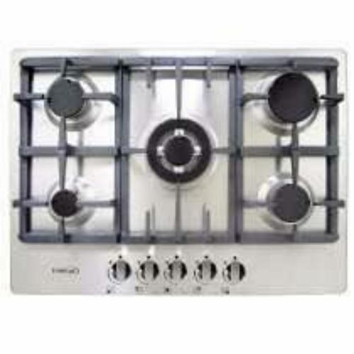 tope cocina a gas 5 hornillas premiun 70cm acero inoxidable