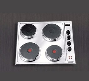 tope cocina electrico empotrar acero inox tecnolam 60 cm