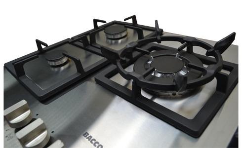tope cocina empotrar gas bacco 75 cm acero inoxidable