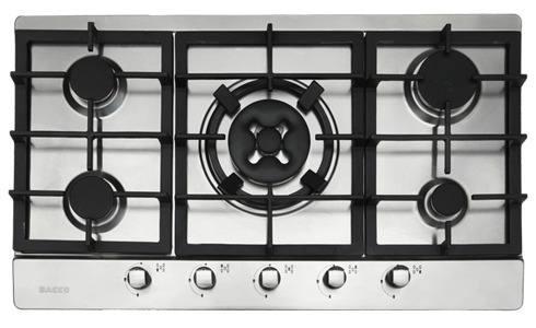 tope cocina empotrar gas bacco 90 cm acero inoxidable