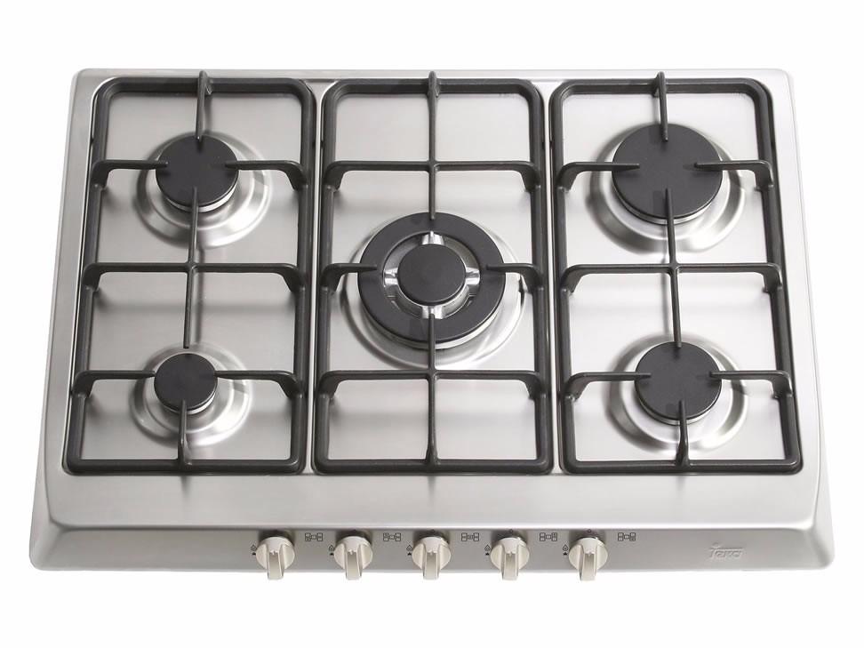 Tope cocina gas 70 cm teka acero inoxidable bs for Cocinas teka gas natural