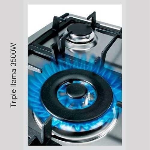 tope cocina gas largo tecnolam 60 cm acero inoxidable