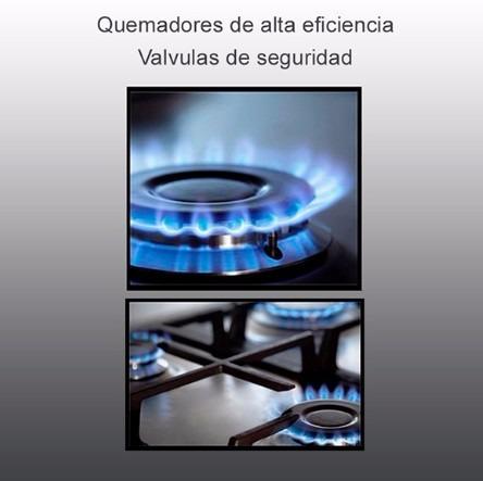 tope cocina gas tecnolam 4 flat plus 90cm