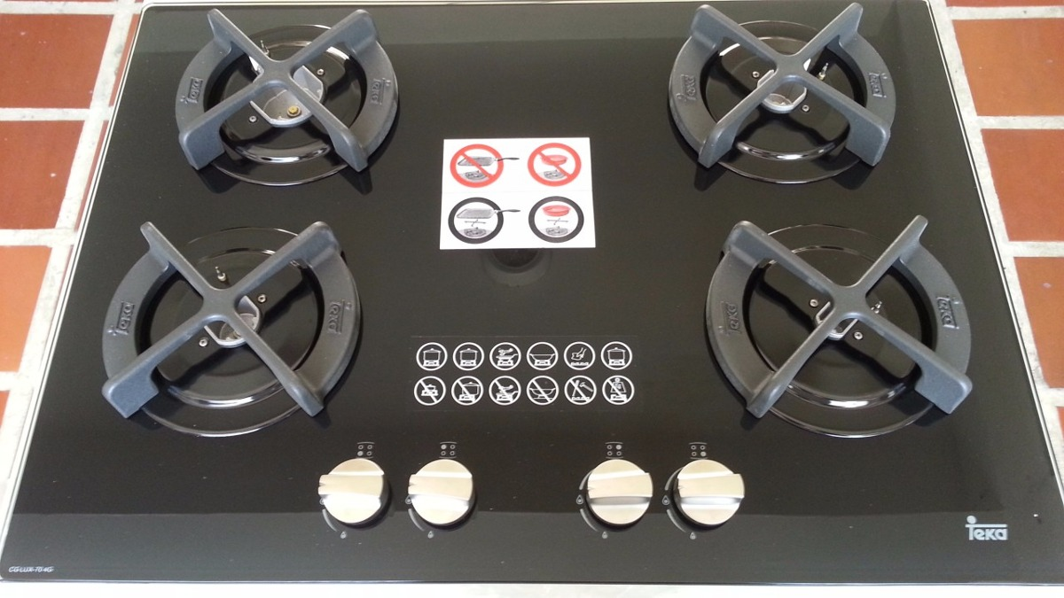Tope cocina vitrocer mico teka gas cg lux 70 4g ai al - Cocinas teka gas natural ...