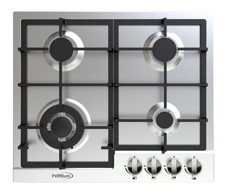tope de cocina 4 hornillas a gas acero inoxidable hyundai