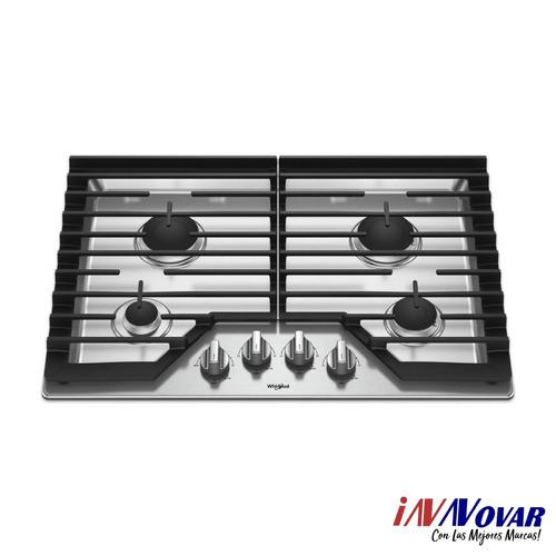 tope de cocina 4 hornillas whirlpool wcg55us0hs 30 pulgadas