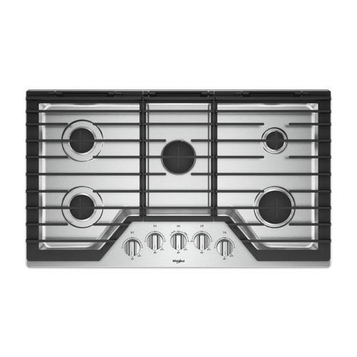 tope de cocina 5 hornillas whirlpool wcg97us6hs 36 pulgadas