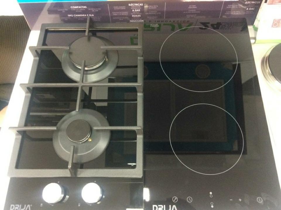 Tope De Cocina A Gas Y Electrico 2 Hornillas Dual 60cm Bs 5 900