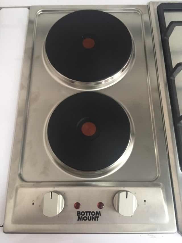 Tope De Cocina Electrico 2 Hornillas Bottom Mount 220v Bs 3 299