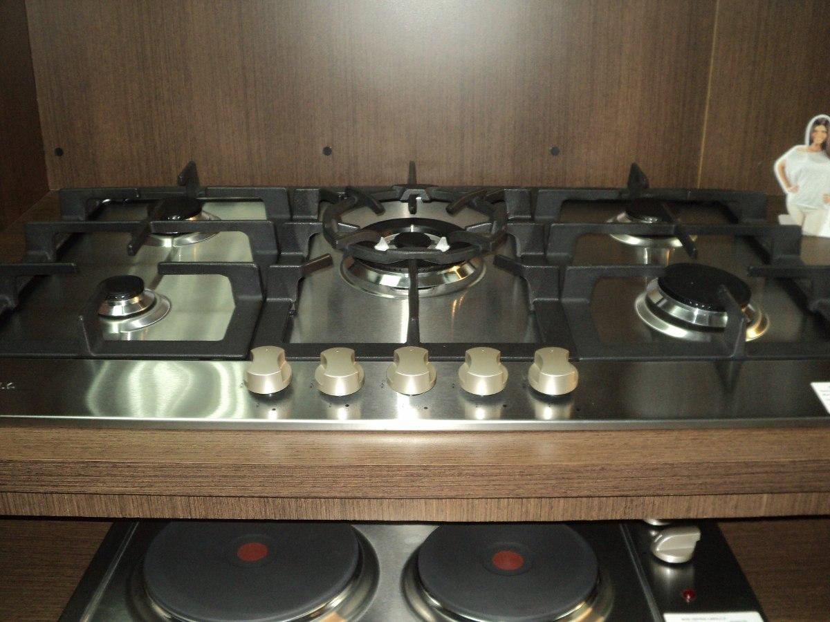 Tope de cocina frigilux a gas para empotrar 5 hornillas - Plancha de cocina para empotrar ...