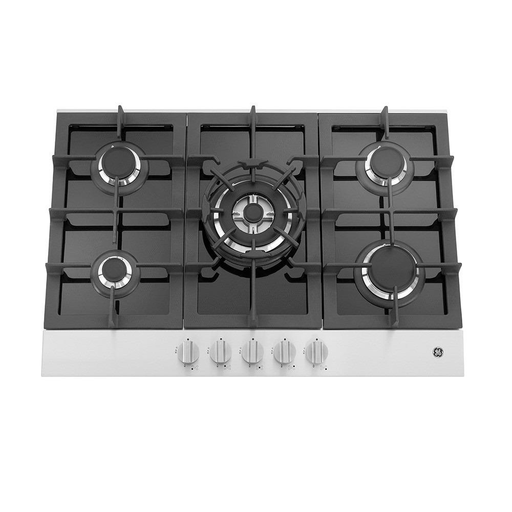 Tope de cocina ge a gas 5 hornillas cgg771510 for Cocina vitroceramica a gas