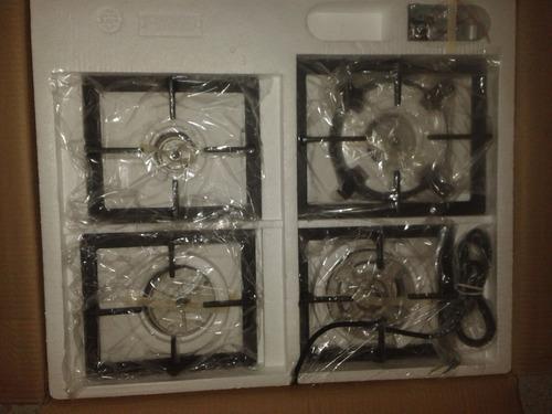tope de cocina tecnolam a gas de 4 hornillas