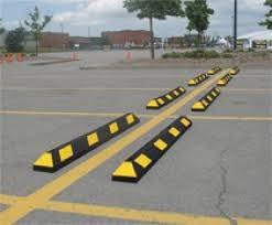 tope de estacionamiento grande incluye anclas