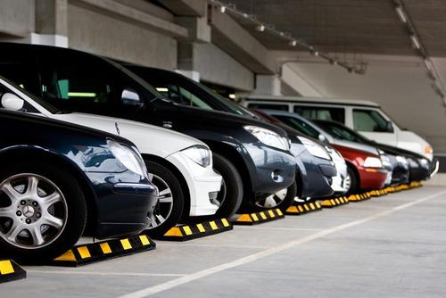 tope de estacionamiento park it 1.83m color negro / amarillo