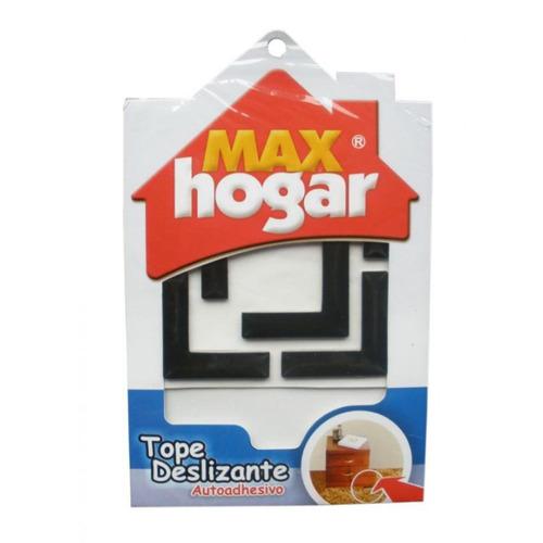 tope deslizante l para muebles - max hogar - 10430006 - negr