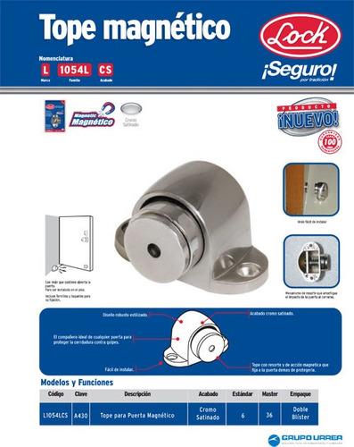 tope magnético para puerta níquel satinado l1054lcs lock