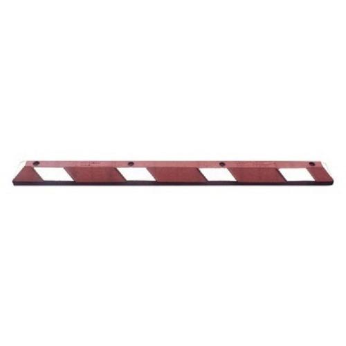 tope para estacionamiento 1.83 m color rojo cinta reflejante