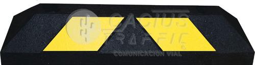 tope para estacionamiento de 56 cm negro franjas amarillas
