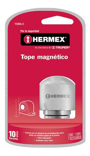 tope puerta magnetico cromo hermex 43782