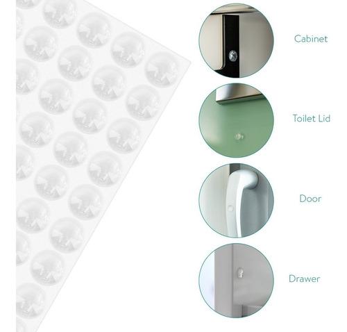 tope silicona autoadhesivo para puerta mueble x 500 unidades
