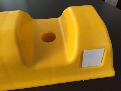 topellanta plastico tope de parqueo de 50x10x17 cms