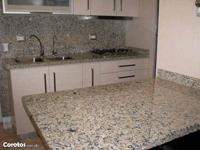 Topes de cocina en granito natural y marmol al mejor precio en mercado libre - Granito cocina precio ...