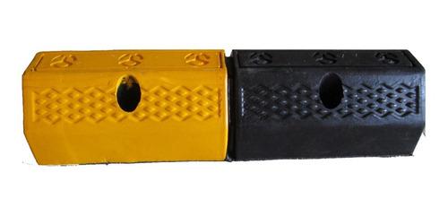 topes para parqueo (topellantas) amarillo negro 50x16x10 cm