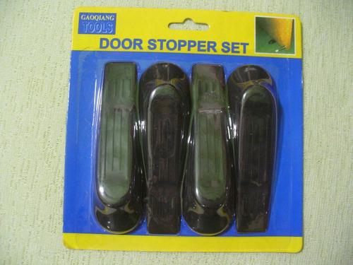topes para puertas goma negra 4 unidades oferta