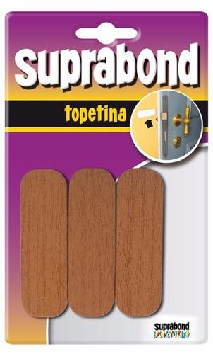 topetina rectangular blanco/madera x 5 blister suprabond