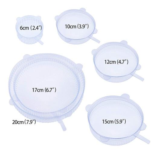 topmin silicona tramo tapas , 6 paquete de vario tamaños ,
