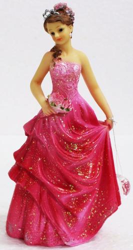 topo bolo 15 ano decoração tradicional rosa er1502 a