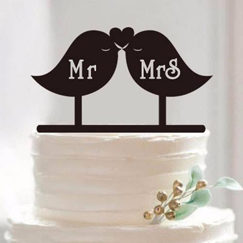 topo de bolo acrílico preto casamento noivado - casal mr mrs